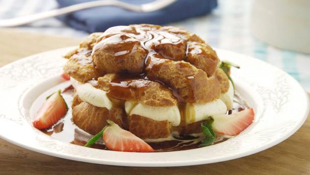 Bbc food recipes cappuccino profiteroles cappuccino profiteroles forumfinder Choice Image