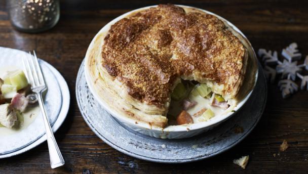 Turkey Leek And Ham Pie